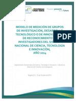 Documento Medición Grupos - Investigadores Versión Final 15 10 2014 (1)