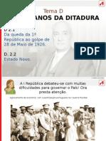 Os Anos Da Ditadura Militar