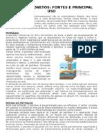 Estudo dirigido - petróleo e frações derivadas