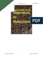 Las Matematicas en Mesopotamia - Carlos Maza Gomez