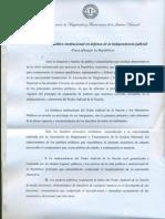 Diputado Alberto Asseff firmó el Acuerdo político institucional en defensa de la independencia judicial