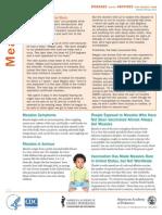 Measles Fact Sheet