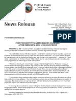 Frederick High School Incident - County Executive Gardner Statement