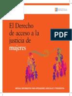 El Derecho de acceso a la justicia de mujeres