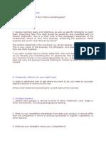 Questionnaire (Marketing Plan)