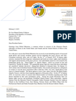 Global Ministries Letter to the President Juan Manuel Santos Regarding the Death Threat of Christian Leaders in Colombia