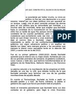 El Sielncio de Bachelet