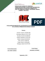 EVALUACIÓN DE RIESGOS DE LOS PROCESOS DE TRABAJO DEL PERSONAL DE LA ESCUELA PRIMARIA BOLIVARIANA CABIMAS