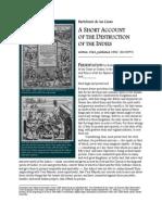 De Las Casas - A Short Accounf Ot the Destruction of the Indies