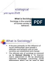 Lecture # 1 Sociological perspective