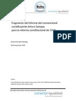 Fragmento Del Informe de Arturo Sampay