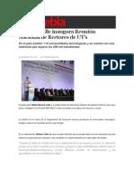 04-02-2015 Sexenio Puebla - Moreno Valle Inaugura Reunión Nacional de Rectores de UT's