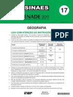 PROVA_GEOGRAFIA_(ENADE_2011)