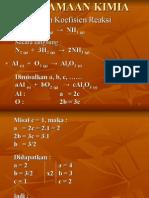 Persamaan kimia