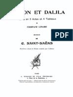 SaintSaens-Samson Dalila Vocal Score