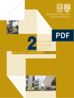 Segundo Informe de Actividades de la Escuela Nacional de Trabajo Social Universidad Nacional Autónoma de México