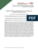 Identificacion de parametros de la dinamica de sistemas estructurales