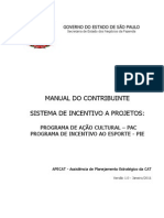 Manual Do Contribuinte ProAC e PIE
