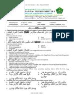 [Soal Cetak] Al-qur'an-hadts Xi Uas 1 2014-2015