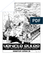Vehicle Rules for mutants