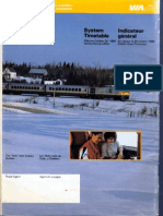 VIA Rail system timetable October 26 1986