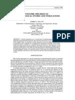 VOUCHER SPECIMENS IN ETHNOBIOLOGICAL STUDIES AND PUBLICATIONS