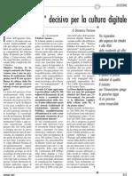 """""""Fattore umano"""" decisivo per la cultura digitale 05_giugno_07"""