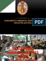 SANEAMIENTO AMBIENTAL DESPUÉS DE UN DESASTRE NATURAL