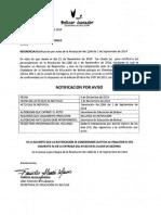 Notificacion Por Aviso Julio Fonseca Rodelo