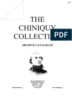 CHINIQUY CATALOGUE -  April 3 09