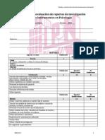 Rúbrica Reporte de Investigación e Instrumentos Cuestionario