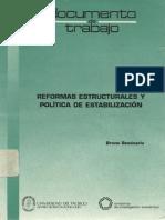 DT22 Reformas Estructurales y Politica de Estabilizacion