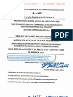 USCA-DCC 14-5327 Motion for Judicial Notice of USCA-DCC 14-5325 as Related Case Arpaio v Obama Appellant Brief and Appendix I II