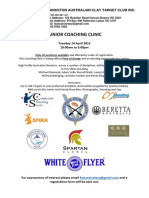 2015 Juniors Training Day Flyer