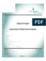 Design for Sig Sigma for Medical Device Manufacturers