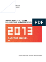 INDICATEURS D'ACTIVITES DES HOPITAUX UNIVERSITAIRES