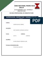 Supervision de Obras, Residencia de Obra