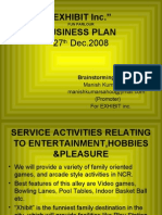 "Bussiness plan ""Xhibit Inc"""