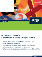 Gce English Literature