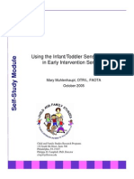 Using the Infant/Toddler Sensory Profile  in Early Intervention Services