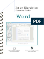 Cartilla de Ejercicios Word