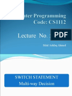 Computer Programming Lecture 5