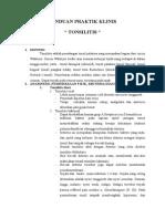 Panduan Praktik Klinis Tonsilitis