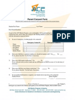 parent consent form