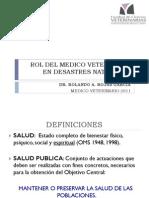 Rol Del Medico Veterinario en Desastres Naturales