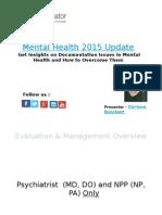 Mental Health 2015 Update