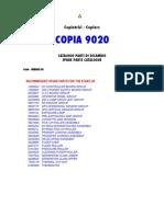 Copia 9020 Parts Manual