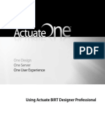 Using Actuate BIRT Designer Professional