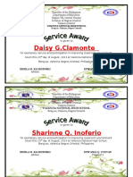 Certificate of Recognition IV- Diamond (1)