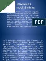 Relaciones termodinámicas